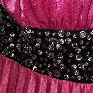 Dresses - Pink and Black formal dress